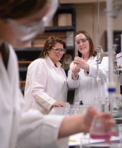 students at FMCC working in a lab